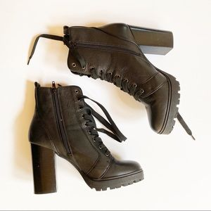 Steve Madde Laurie Black Combat Military Boots 11